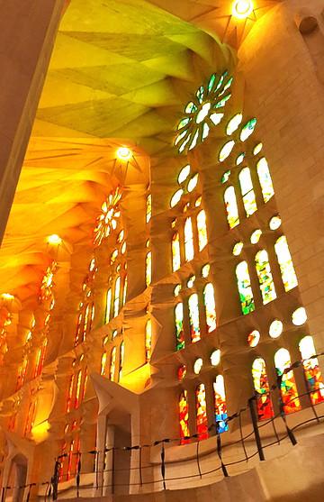 Les vitraux de la Sagrada
