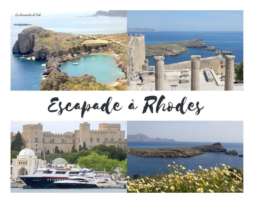 Séjour sur l'Ile de Rhodes. Quevisiter?