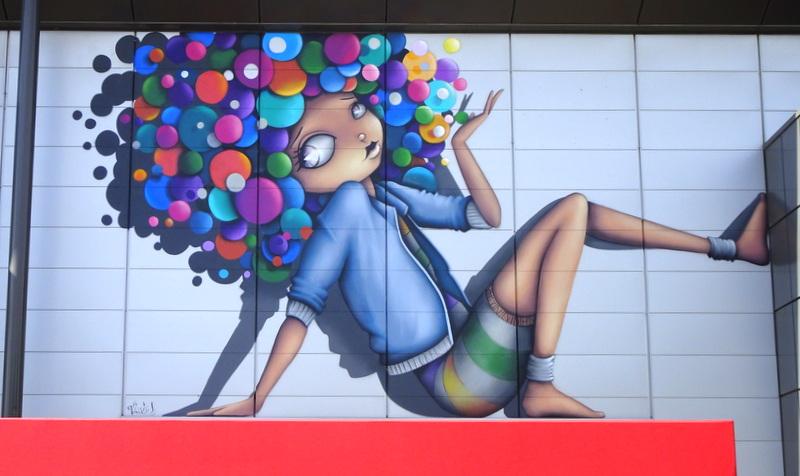 Nouveau spot de street-art : Le Clos du Chêne àMontévrain
